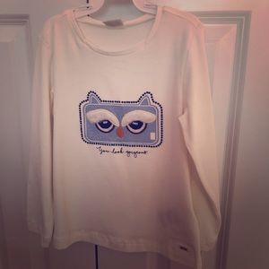 NWOT Girl's White Top, size 4